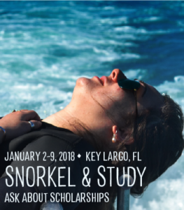 snorkel and study for college women